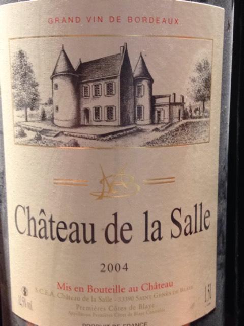 ch 226 teau de la salle bordeaux 2004 wine info