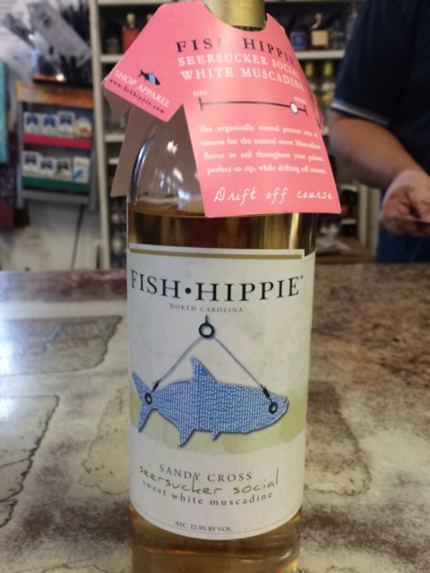 Fish hippie seersucker social sweet red muscadine 2014 for Fish hippie wine