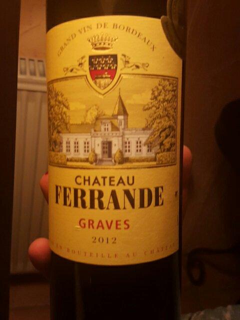Ch teau ferrande graves 2012 wine info for Chateau ferrande