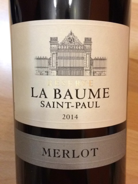 domaine de la baume merlot r serve saint paul 2014 wine info. Black Bedroom Furniture Sets. Home Design Ideas