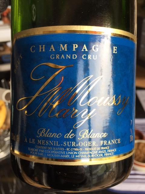 J moussy mary champagne le mesnil sur oger blanc de blancs brut nv wine info for Salon blanc de blancs le mesnil sur oger
