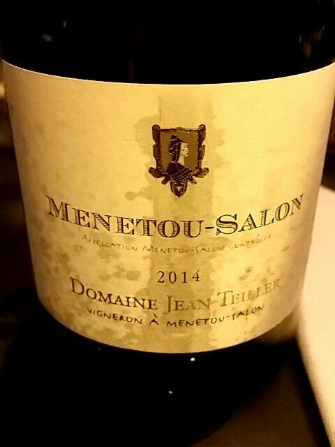 Domaine jean teiller jean teiller menetou salon blanc 2014 - Menetou salon teiller ...