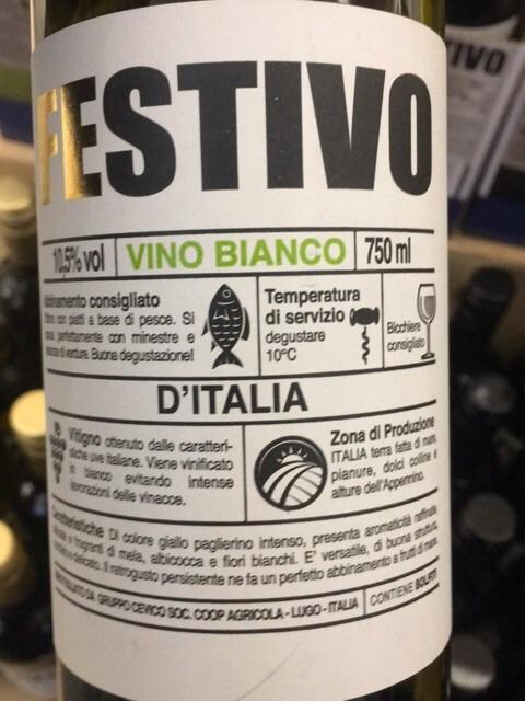 Fiori Bianchi Vino.Festivo Bianco Wine Info