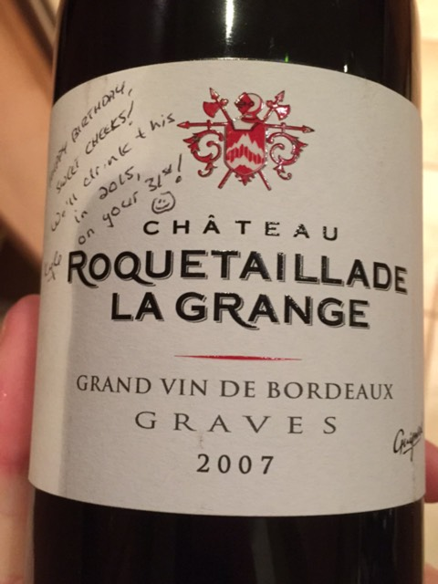 ch teau roquetaillade la grange grand vin de bordeaux graves 2007 wine info. Black Bedroom Furniture Sets. Home Design Ideas