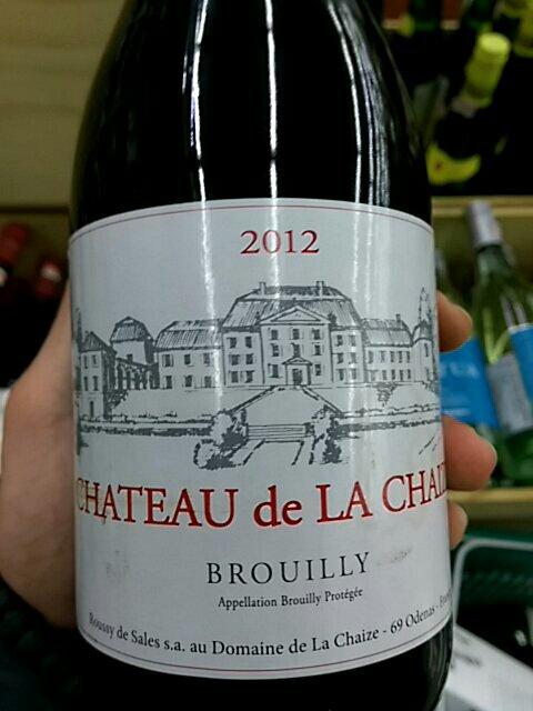 Ch teau de la chaize brouilly 2012 wine info for Brouilly chateau de la chaise