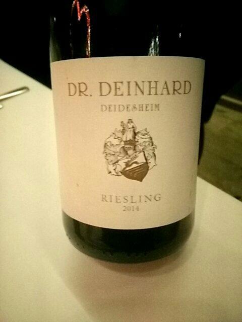 Dr deinhard riesling deidesheim 2014 wine info for Deinhard wine