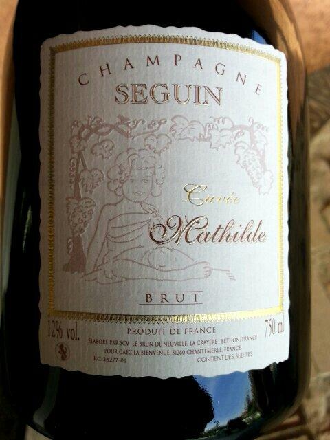 Seguin champagne cuv e mathilde brut wine info for Champagne seguin