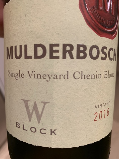 mulderbosch single vineyard chenin blanc block a 2021)