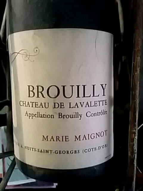 Marie maignot brouilly chateau de la valette 2012 wine info for Brouilly chateau de la chaise