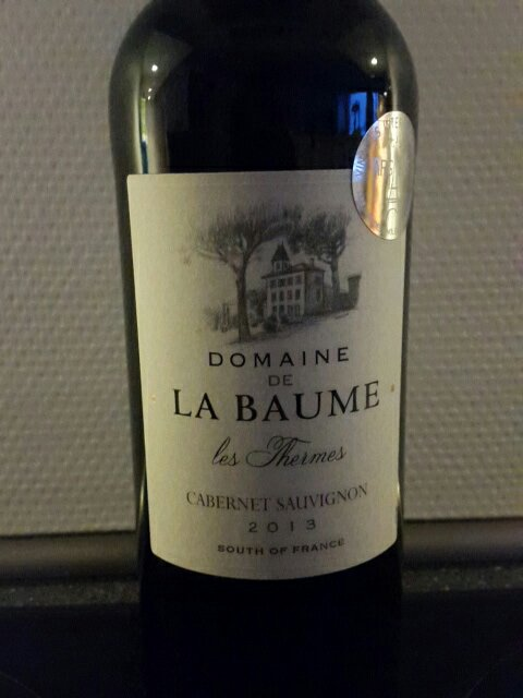 domaine de la baume cabernet sauvignon les thermes 2013. Black Bedroom Furniture Sets. Home Design Ideas