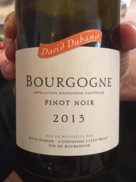 David Duband Bourgogne Pinot Noir 2012 | Wine.com