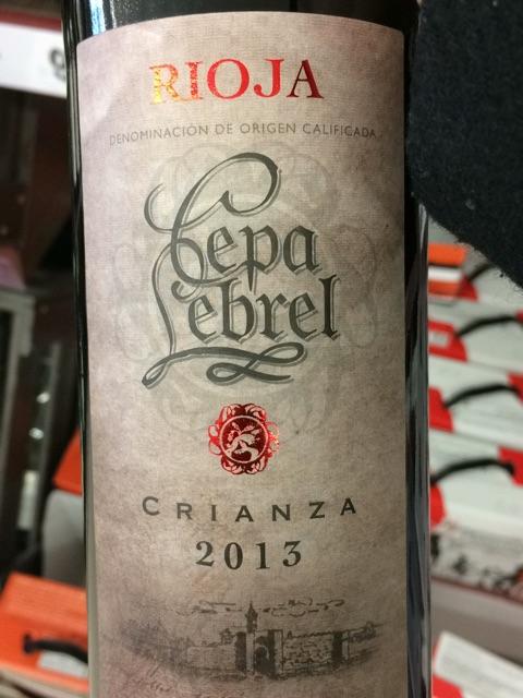 Cepa Lebrel Rioja Crianza Vivino