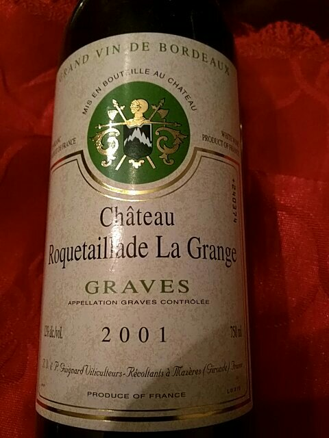 ch teau roquetaillade la grange grand vin de bordeaux graves 2001 wine info. Black Bedroom Furniture Sets. Home Design Ideas
