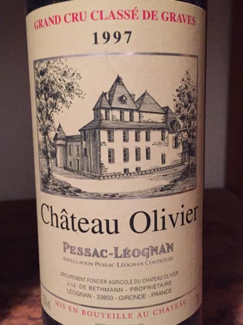 Ch teau olivier pessac l ognan grand cru class blanc 1997 for Chateau olivier