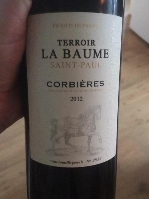 Domaine de la baume corbi res terroir saint paul 2012 - Domaine de la baume ...