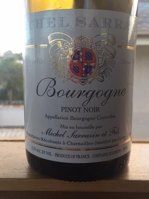 Sarrazin bourgogne pinot noir wine info for La fenetre a cote pinot noir 2012