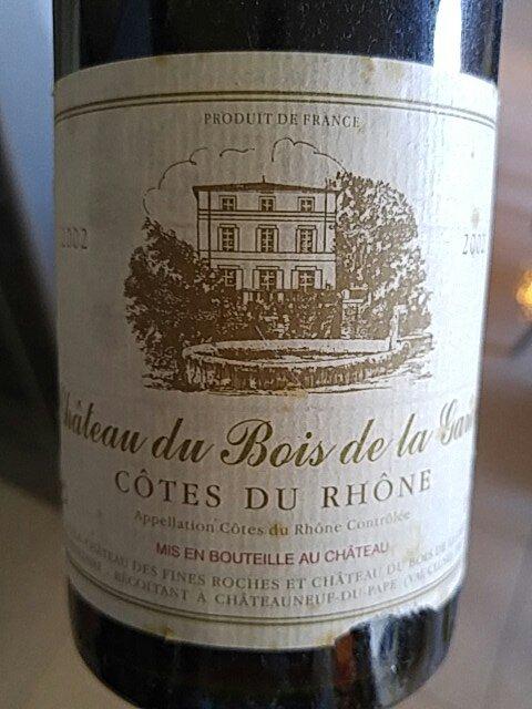 Chateau Du Bois De La Garde - Mousset Barrot Ch u00e2teau du Bois de la Garde C u00f4tes du Rh u00f4ne 2002 Wine Info