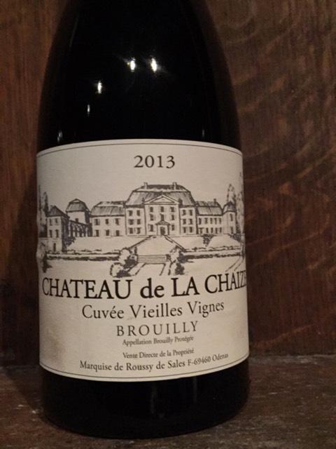 Ch teau de la chaize cuv e vieilles vigne brouilly 2009 for Brouilly chateau de la chaise
