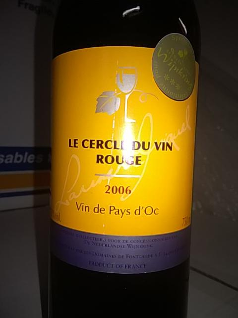 fontcaude le cercle du vin rouge vin de pays d oc 2006 wine info. Black Bedroom Furniture Sets. Home Design Ideas