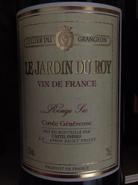 Grangeon le jardin du roy cuv e g n reuse rubis rouge sec for Le jardin high wine