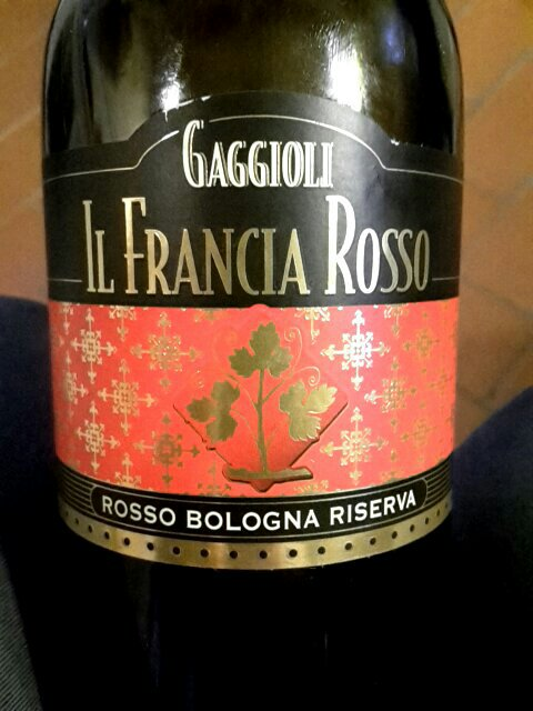 Gaggioli il francia rosso bologna riserva wine info for Il rosso bologna menu