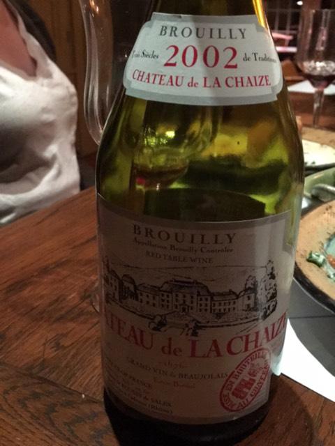 Ch teau de la chaize brouilly 2002 wine info for Brouilly chateau de la chaise