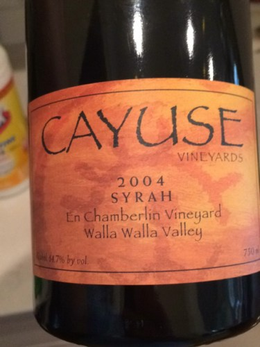 Cayuse en chamberlin vineyard syrah 2004 wine info for Cayuse vineyards