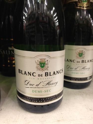 Duc d 39 henry demi sec blanc de blancs vin mousseux wine info for Belle jardin blanc de blancs