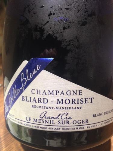 Bliard moriset champagne le mensil sur oger belle bleue grand cru blanc de blancs brut wine info for Salon blanc de blancs le mesnil sur oger