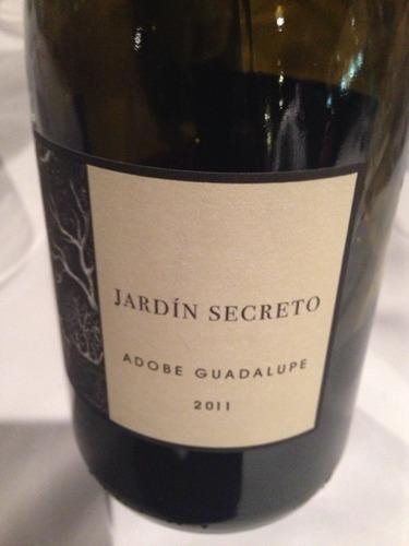 Adobe guadalupe jard n secreto 2009 wine info for Jardin secret wine