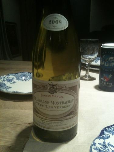 Seguin manuel les vergers chassagne montrachet 1er cru for Champagne seguin