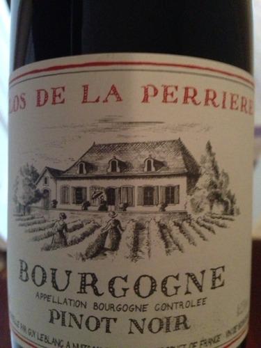 Clos de la perriere bourgogne pinot noir 2007 wine info for La fenetre a cote pinot noir 2012