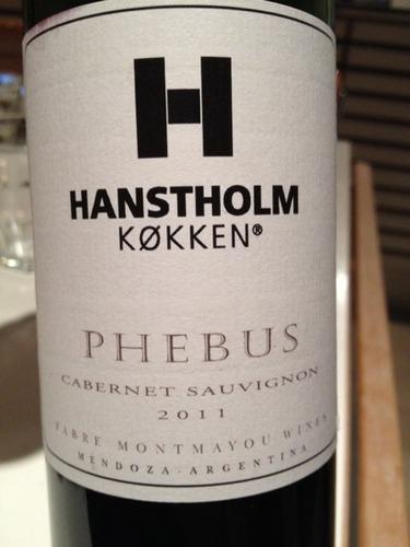 ... Montmayou Cabernet Sauvignon Hanstholm KØkken Phebus 2009  Wine Info