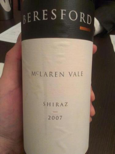 beresford shiraz 2012 | wine info