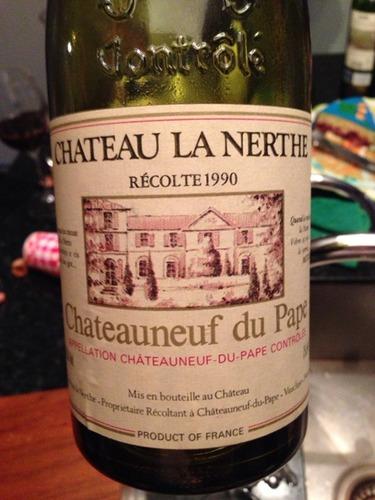 Ch teau la nerthe ch teauneuf du pape 1990 wine info for Chateau la nerthe