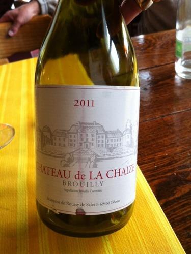 Ch teau de la chaize brouilly 1975 wine info for Brouilly chateau de la chaise