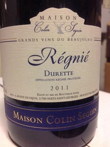 Maison colin seguin regnie durette colin seguin wine info for Champagne seguin