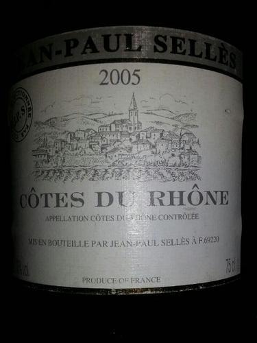 Jean Paul Et Cecile Selles Côtes Du Rhône 2005