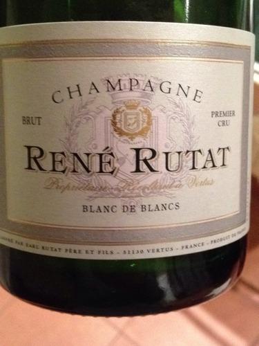 Rene rutat champagne blanc de blancs premier cru brut for Belle jardin blanc de blancs