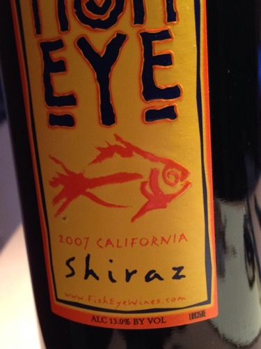 Fish eye california shiraz 2001 wine info for Fish eye wine