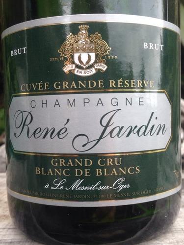 Rene jardin champagne cuv e grande r serve blanc de blancs for Grand jardin wine
