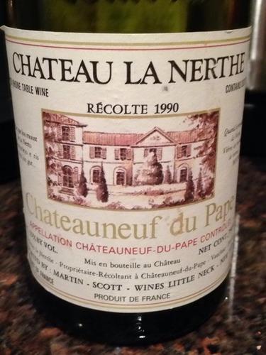 Ch teau la nerthe ch teauneuf du pape blanc 1990 wine info for Chateau la nerthe