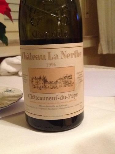 Ch teau la nerthe ch teauneuf du pape blanc 1996 wine info for Chateau la nerthe