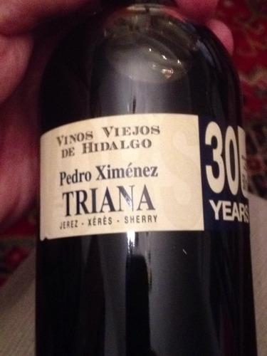Triana vinos viejos de hidalgo jerez xeres sherry pedro ximenez nv wine info - Vino de pedro ximenez para cocinar ...