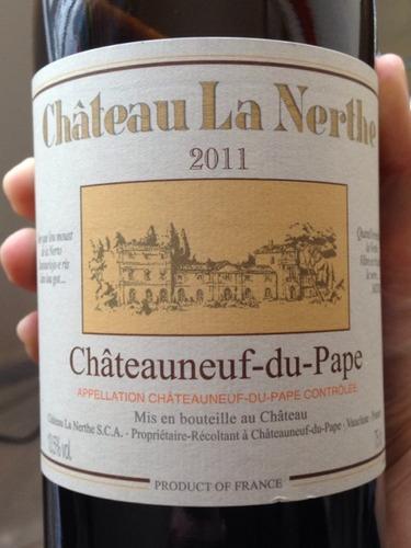 Ch teau la nerthe ch teauneuf du pape 2011 wine info for Chateau la nerthe