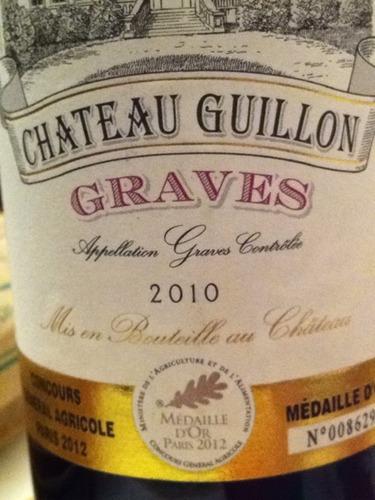 Ch teau ferrande ch teau guillon graves 2010 wine info for Chateau ferrande