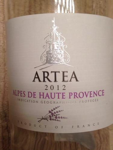 Artea alpes de haute provence 2012 wine info for Haute provence info