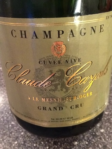 Claude cazals champagne brut le mesnil sur oger grand cru blanc de blancs nv wine info for Salon blanc de blancs le mesnil sur oger