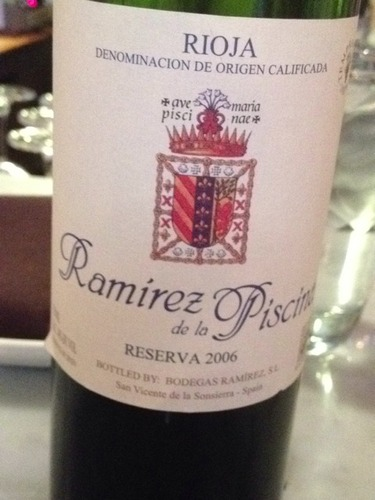 Ramirez reserva ramirez de la piscina 2000 wine info - Ramirez de la piscina ...