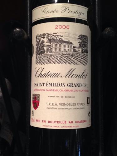 Château Monlot Cuvée Prestige Saint-Émilion Grand Cru 2006